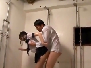 Japanese Teen Get Fucked In Bathroom School