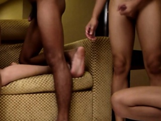 Asian Twinks Enjoying Group Session