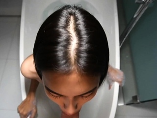 Asian Teen Ladyboy Amateur Bathtub Big Cock Blowjob