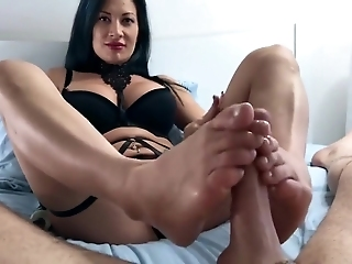 Amazing POV Footjob