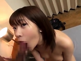 Asian Bimbo Sucks On A Big Cock Close Up